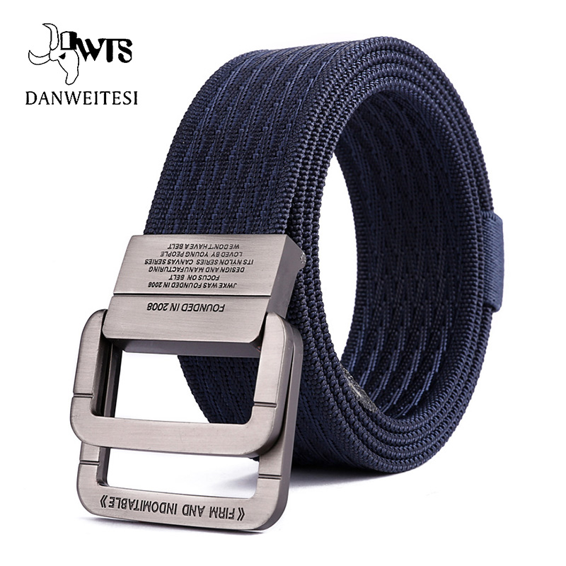 [DWTS] Men Thicken Metal Buckle Nylon Military Belt Combat Tactical Belts Heavy Duty Molle Carry Survival Waist Belt