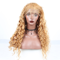Deep Wave Lace Front Human Hair Wigs 250 Density 27 Color Pre Plucked With Baby Hair