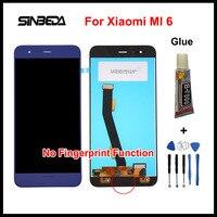 Sinbeda New For Xiaomi Mi6 Replacement Part For Xiaomi MI 6 No Fingerprint Function LCD Display