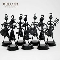7 piece Music Band Ironman Creative Band Sculpture Modeling Home Decoration Accessories Hotel Wedding Decoration Animal Statue
