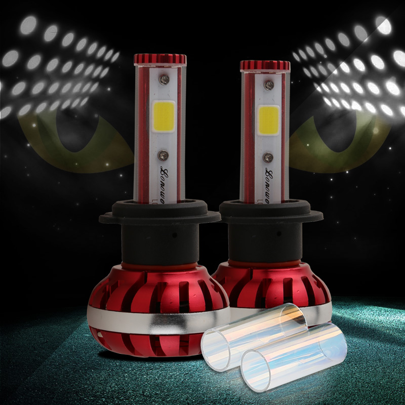 Conquer 60W High beam LED High Power H7 High Low Beam Car Led Headlight Kit  Auto Hi/lo Bulbs Replacement Canbus Headlamp