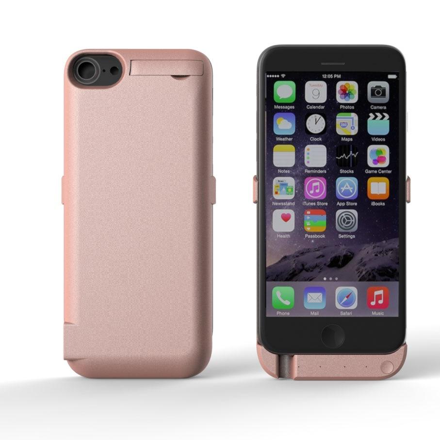 imágenes para 10000 mAh Caso de Carga para el iphone 6 6 s ip6 Cubierta Banco de la Energía Del Cargador de Batería Externa Recargable para el iphone 7
