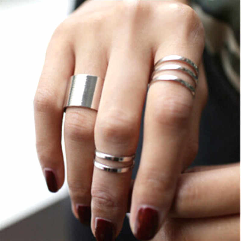 3pcs Ring Set Punk Adjustable Rings For Women Bijoux New Fashion Jewelry Wholesale All Match Hot Selling