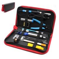 Adjustable Temperature Electric Soldering Iron 220V 60W EU Plug Welding Tool 5pcs IronTips Desoldering Pump Solder