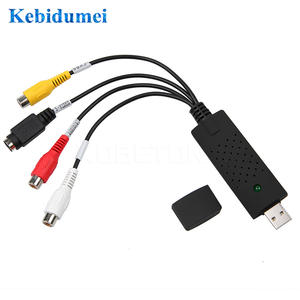 Kebidumei USB Video Capture Device USB 2.0 Easy to Cap Video TV DVD VHS DVR Capture Adapter Easier Cap support Win10 Newest