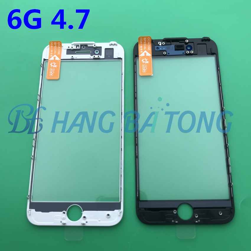 20pcs Original New LCD Front Touch Screen Glass Outer Lens With Frame Bezel +OCA For Iphone 7 7plus 6 6s 6P 6sp 8 8PLUS 5 5S