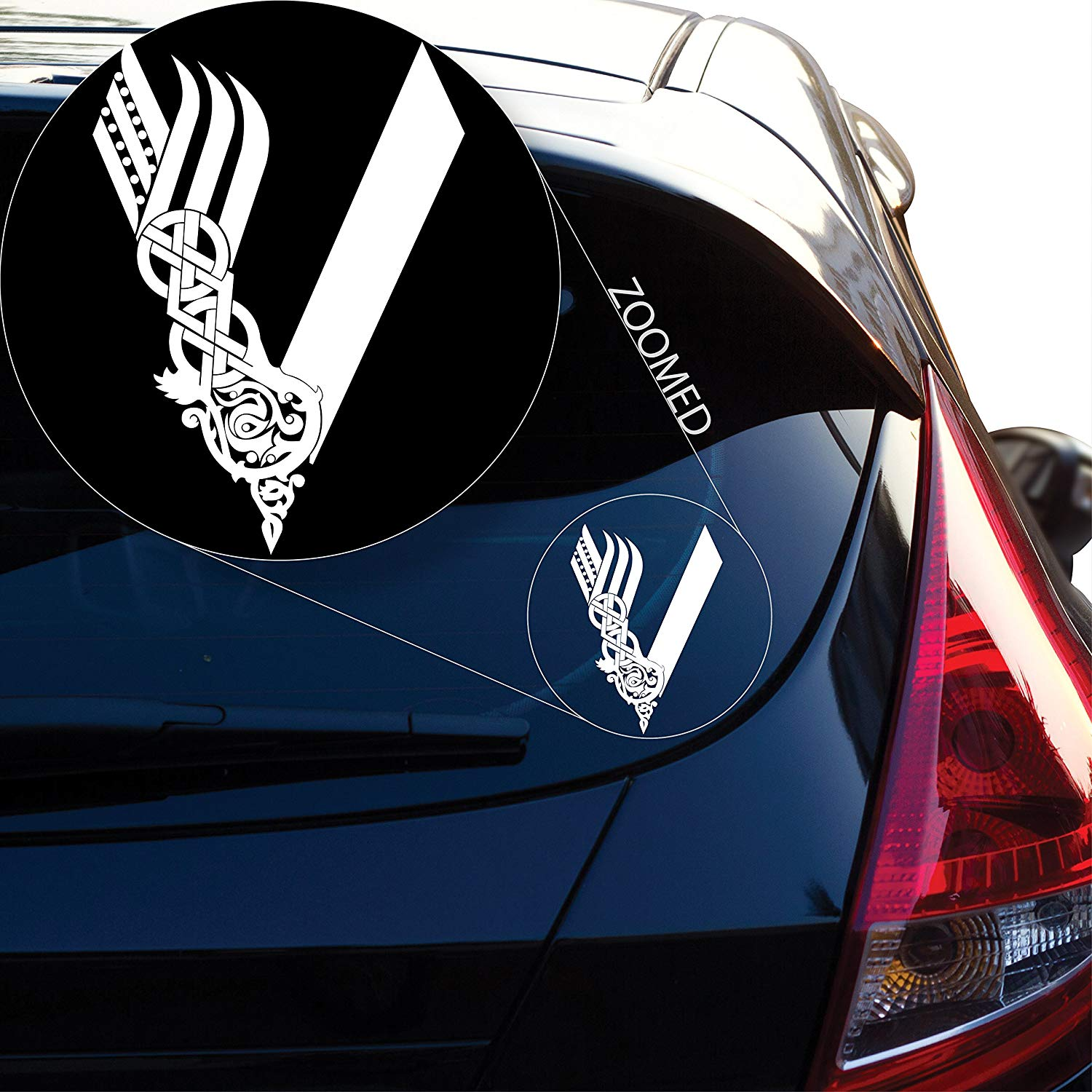 "Vikings Tv Show Decal Sticker For Car Window, Laptop And More. # 813 (8"" X 5.7"", White)"