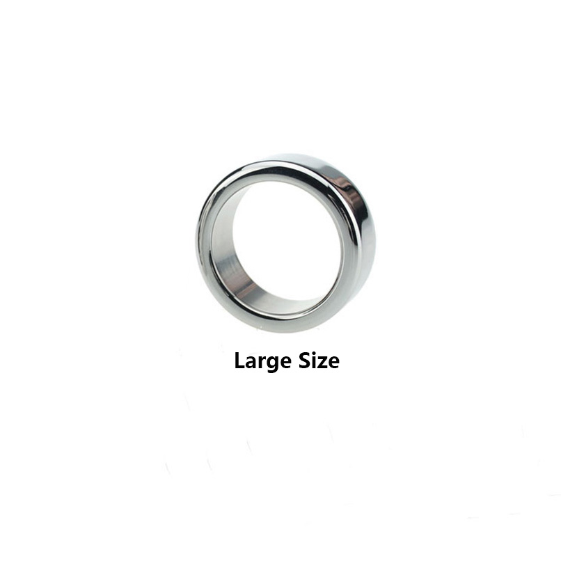 Stainless Steel Penis Ring for Man Smooth Metal Cock Ring Sex Love Ring Adult Toy Chastity Device Cock Rings Penis Cage Sex Toy