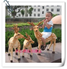 big Sika deer toys lovely standing stuffed Sika deer doll simulation deer doll gift about 90x70cm