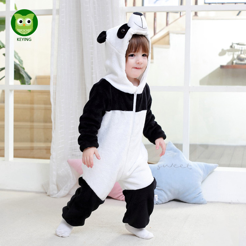 KEYING Infant Baby Romper Boys Girls Jumpsuit Newborn Bebe Clothing Hooded Toddler 2017 Baby Clothes Cute Panda Romper Costumes