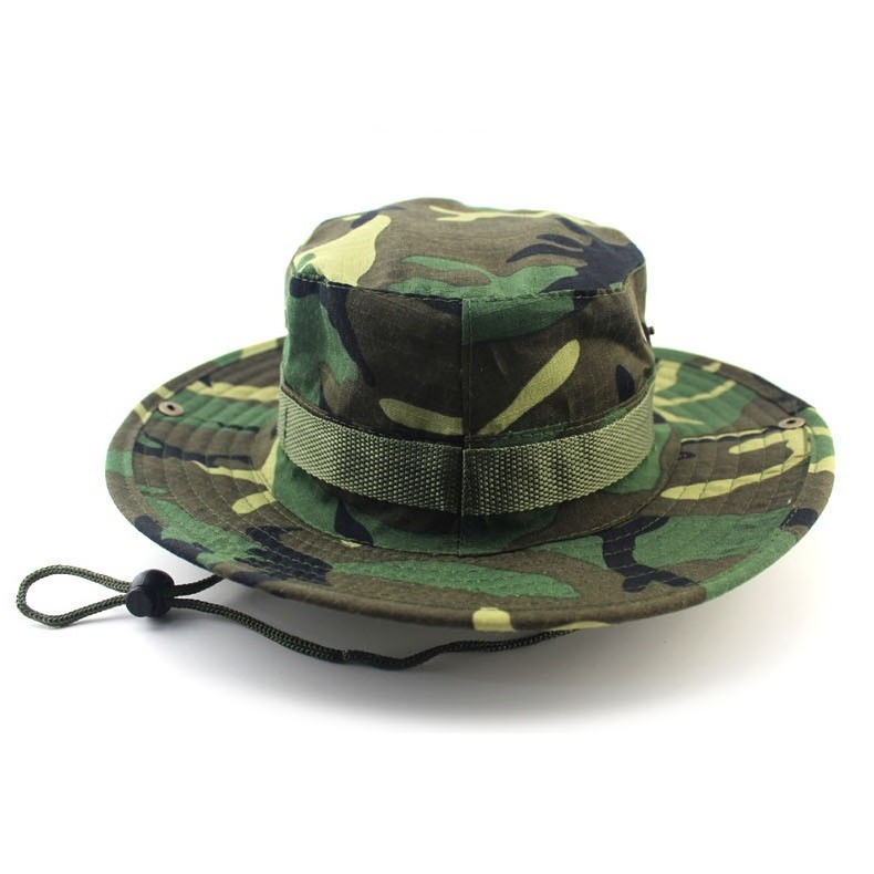 Classic US Combat Army Style Gi Boonie Bush Jungle Hat Sun Fishing Cap Men Women's Cotton Ripstop Camouflage Military Bucket Hat 1