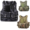 Militaire Armee reglable Veste tactique Camouflage Airsoft Paintball Gilet New tactical gear MOLLE gilet tattico softair tatico