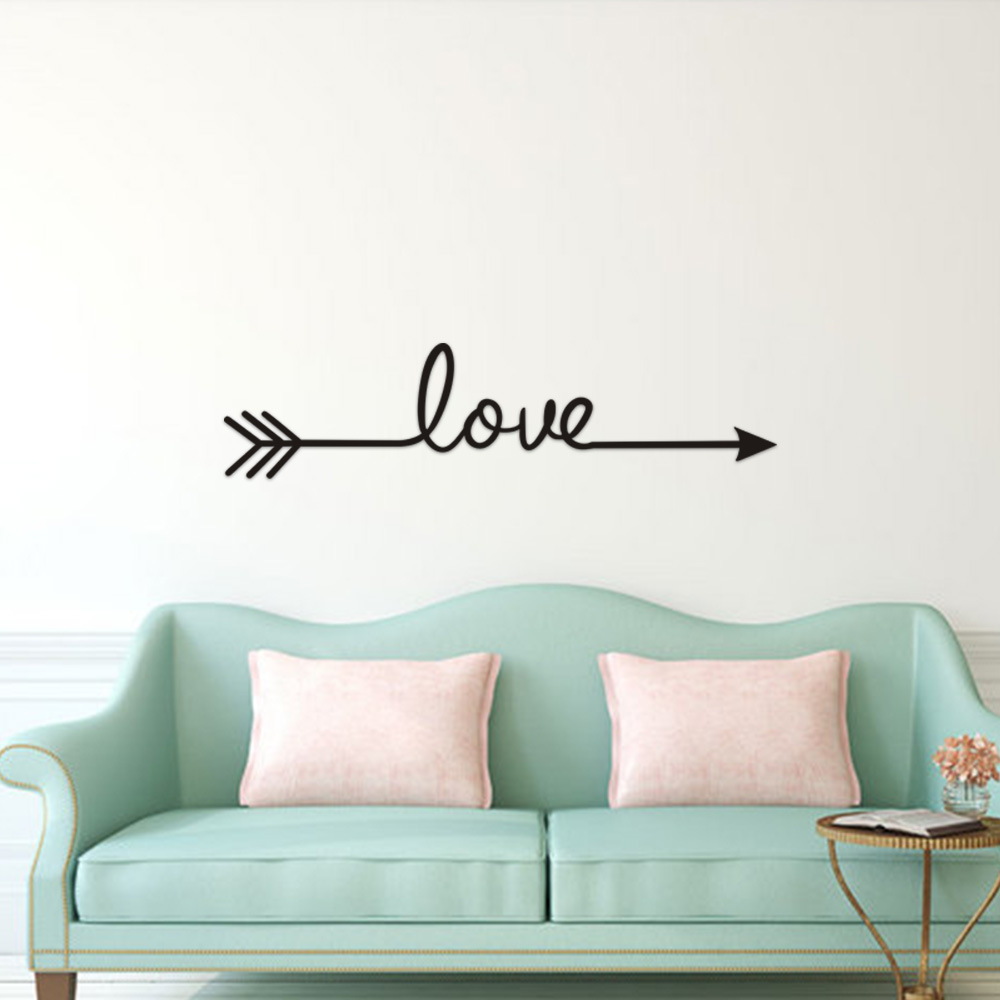 multi color love arrow wall stickers living room sofa background decor bedroom fine carved wall decals home decoration art mural wall stickers aliexpress us 0 97 36 off multi color love arrow wall stickers living room sofa background decor bedroom fine carved wall decals home decoration art mural wall