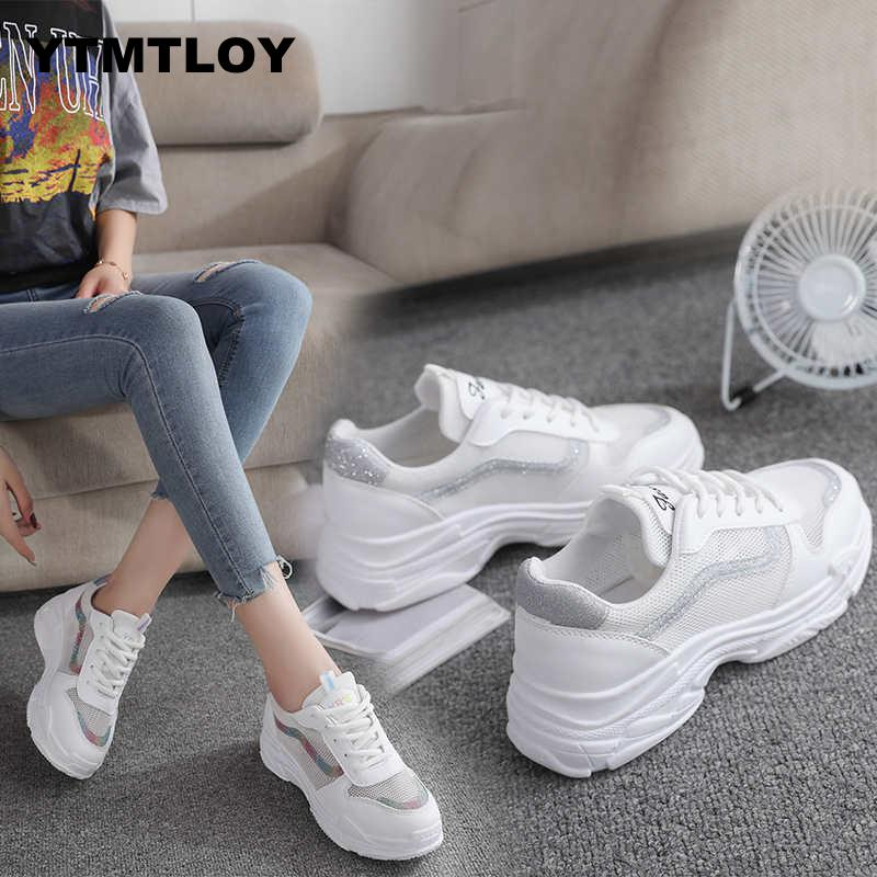 New Fashion Women Casual Shoes Suede Leather Platform Sneakers Ladies White Trainers Chaussure Femme  Sexemara  Summer 2019 New Fashion Women Casual Shoes Suede Leather Platform Sneakers Ladies White Trainers Chaussure Femme  Sexemara  Summer 2019