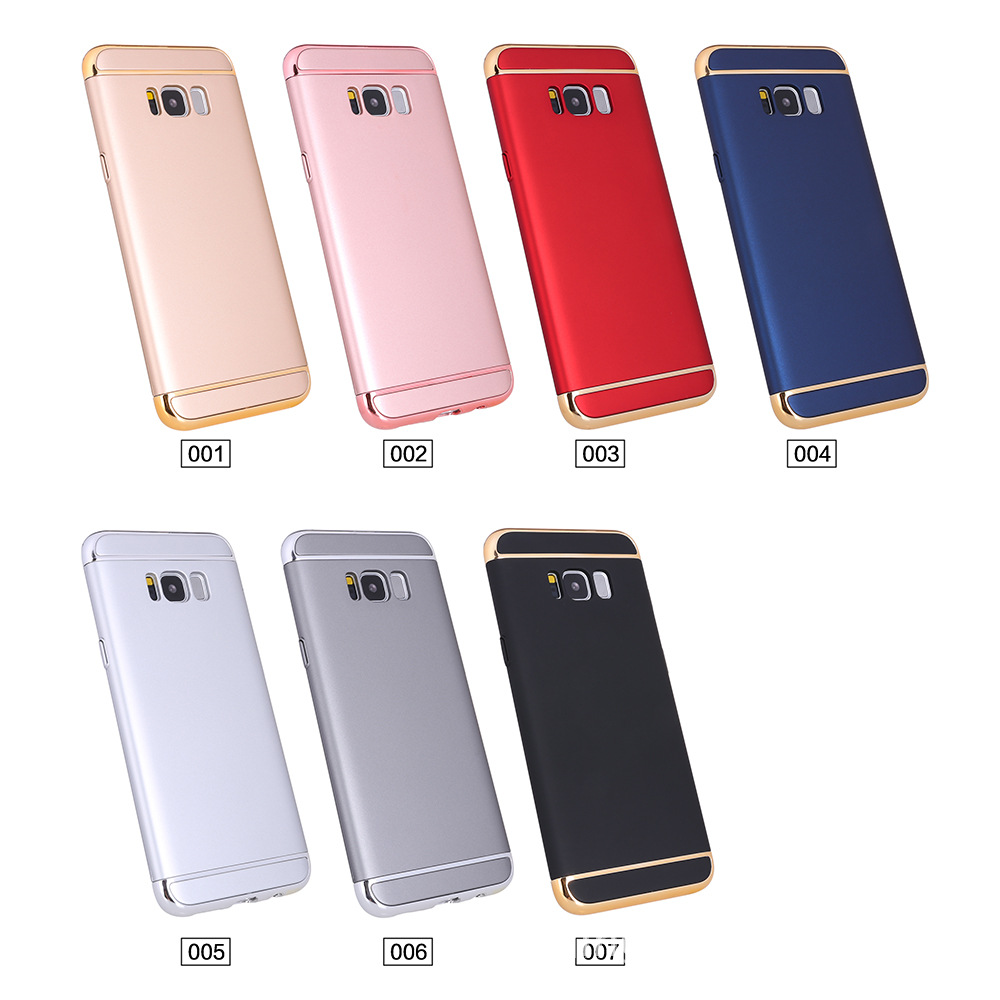 For Samsung J7 PRO J730 Case 3 Segment Electroplating Gold Frame Hard Plastic Matte Cover For Samsung J7 2017 J720 Case Cover