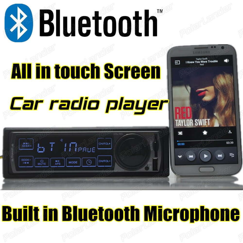 new 12V Car bluetooth font b Radio b font Player MP3 Audio Stereo built in Bluetooth
