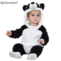 Newborn Baby Rompers Winter Flannel Stitch Panda Baby Boy Clothes Jumpsuit Costume Baby Girl Costume Animal
