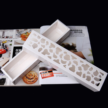 Macaron white slitless cutout macaron box West box chocolate box macaron