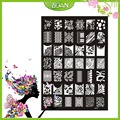 1PCs New Design BQAN Stainless Steel Flower Series/Seductive Cherry Images Nail Plate Stamping XY17