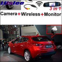 3 In1 Special Camera Wireless Receiver Mirror Monitor Easy Parking System For Mazda 3 Mazda3 M3
