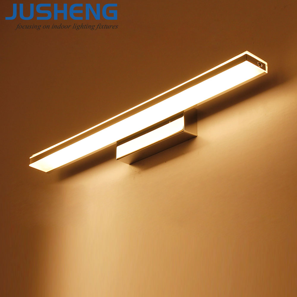 JUSHENG Modern 9W 12W 14W 16W Led Acrylic Wall Lamps AC85-265V Wall Mounted Sconce Wall Lights in Bathroom Lighting