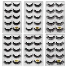 30pairs/lot natrual 3d mink eyelashes false lashes bulk fluffy  3d mink lashes fake lash lashes kit 6 packs eyelashes maquiagem