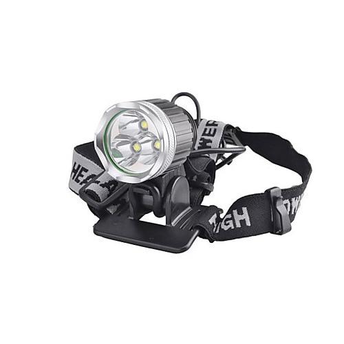 3T6 Headlamp 5000 Lumens 3 x Cree XM-L T6 Head Lamp High Power LED Headlamp Head Torch Lamp Flashlight Head +charger+Batteies 3 6 5000 carretel arremesso
