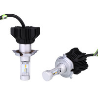 Led Car Headlights Waterproof 2Pcs Auto Fog Two Color Temperature IP68 DC12V