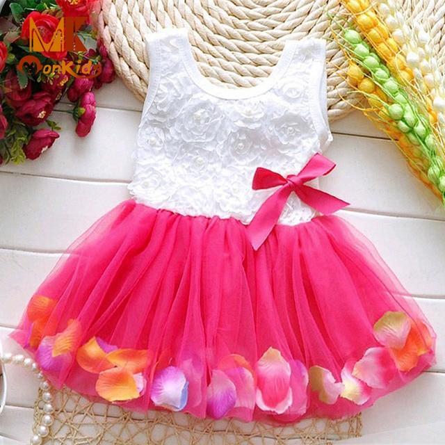 Monkids Vestidos Infantiles Bebé Niñas Vestido de Novia Vestido de ...