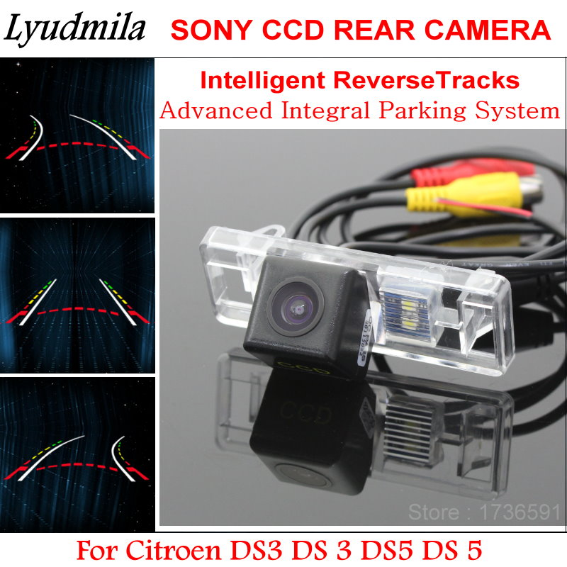 Lyudmila Car Intelligent Back up Tracks FOR Citroen DS5 DS 5 AUTO Dynamic Tragectory Car Rear View Camera Parking Lines