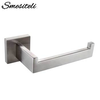 Whosale And Promotions Retail Luxury 304 Stainless Steel Brushed Nickel Finished Toilet Paper Holder Roll Quadrate Wall Mounted цена 2017