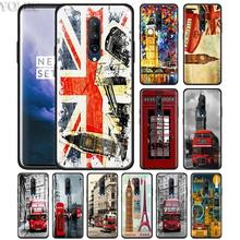 london style bus england telephone Phone Case for Oneplus 7 7Pro 6 6T Oneplus 7 Pro 6T Black Silicone Soft Case Cover