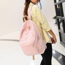 Hot 2016 New Brand Design Fashion Black Canvas Women Backpack Casual Travel Bags Preppy Style School Bags Brown mochila feminina
