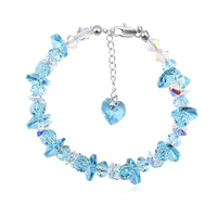 BAFFIN Beads Charm Bracelet Bangles Crystals From Swarovski Luxury Colorful Fancy Stones Strand Bracelet Silver Color For Women