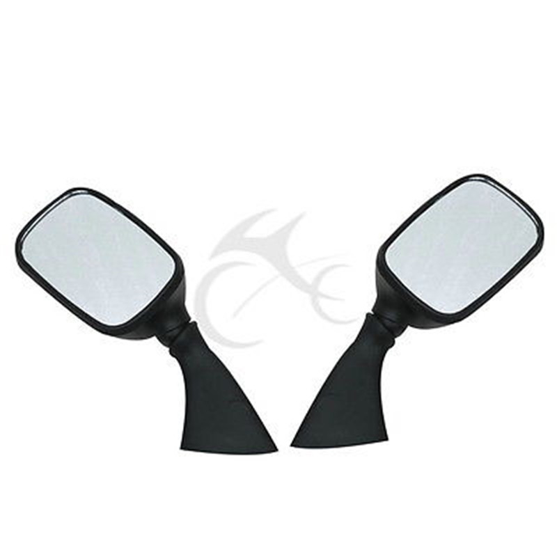 Black Side Rear View Mirrors For SUZUKI GSX1300R HAYABUSA GSXR1000 600 GSX R750 98 99 01 02 03 04 Motorcycle in Side Mirrors Accessories from Automobiles Motorcycles