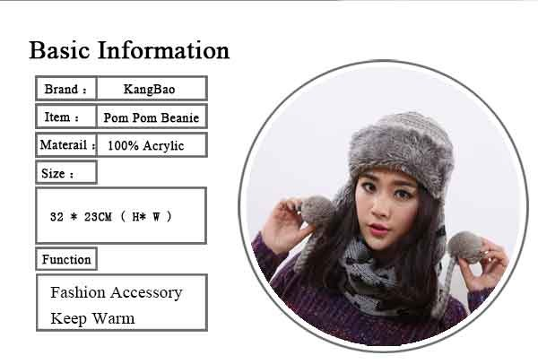 2016 Winter Warm Thick Women Knitted Fur Hat Knitted Fur Cps Lady Winter Warm Charm Beanies Caps Female Headgear  (8)