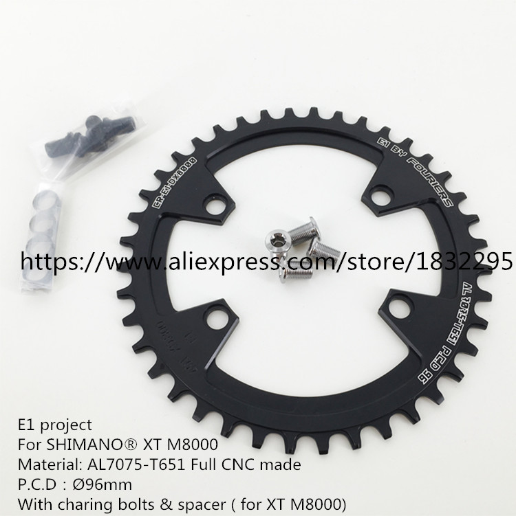 7075T6 CNC mtb Chain Ring 96mm PCD MTB bike bicycle crank chainring tooth Disc / chain ring For XT M8000 Bicycle Accessories west biking bike chain wheel 39 53t bicycle crank 170 175mm fit speed 9 mtb road bike cycling bicycle crank