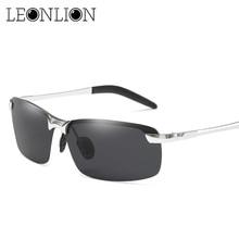 LeonLion 2018 Classic HD Polarized Sunglasses Men Brand Designer Metal Sun Glasses Women Shopping Travel Driving Oculos De Sol