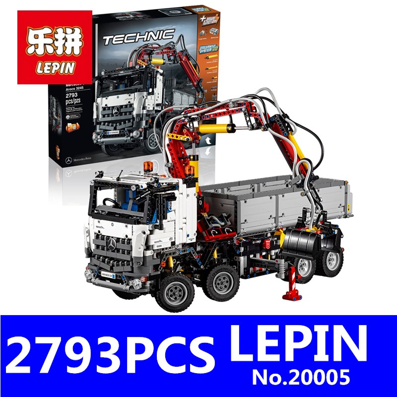 LEPIN 20005 2793Pcs Technic Series Arocs Technic Plane Building Blocks Bricks Kits Ecudational Toys for Children Gift 42043 2793pcs technic remote controlled arocs truck 20005 building kit 3d model blocks minifigures toys bricks compatible with lego