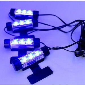 Image 5 - LSlight Auto parts 4 1inch Soles Ambient Light Car LED mood light interior decorative lights interior foot lights car styling