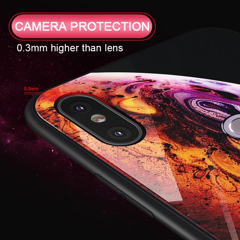 Luxury Glass Case For Xiaomi Redmi Note 6 5 Pro 4X 6 Pro Case For Xiaomi Mi A2 Lite Star Space Case Silicone Coque Artisome (5)