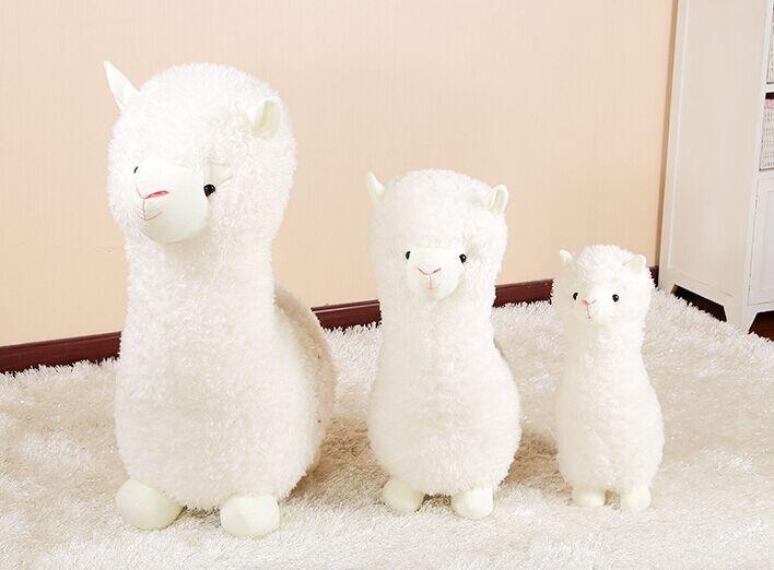 35cm Cute Alpaca Plush Toy Kawaii Alpaca Plush Pillow White Sheep