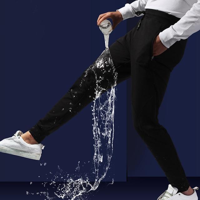 Beverry 2018 Super Hydrophobic Ankle-Length Black Men Sweatpants Casual Elastic Fitness Trousers Nine-Tenth Tactical Pants