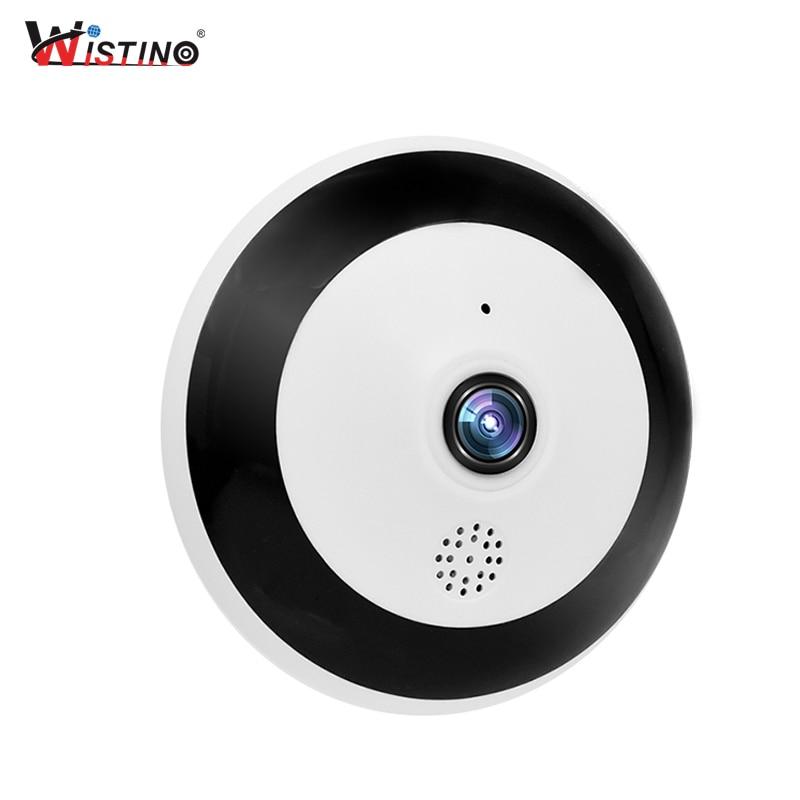 Wistino WiFi HD1080P Panoramique VR IP Caméra de Surveillance Caméra de Sécurité CCTV Sans Fil Maison Intelligente Vidéo Bébé Moniteur D'alarme H.265