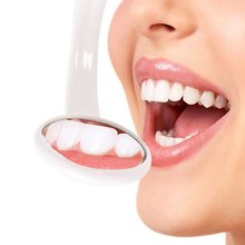 1 Pc Oral Health Care Bright Durable Dental Mouth Mirror with LED Light Reusable Random Color