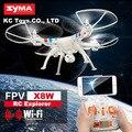 Original syma x8w 2.4g 4ch grande zangão fpv câmera de 2mp hd wi-fi Quadcopter VS X8C Helicóptero DO RC Drones Com Câmera Hd Profissional