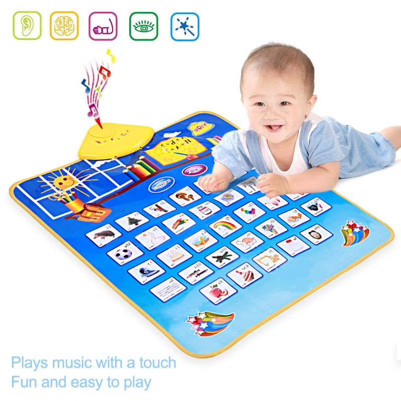Multifunctional Baby Touch Play Music Carpet Kids Game Blanket Newborn Play Mat Children Educational Musical Toy Gift