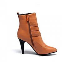 Lady Big Size 4 12 Velvet Women Boots Pointed Toe Mid Calf Autumn Winter Boot Thin