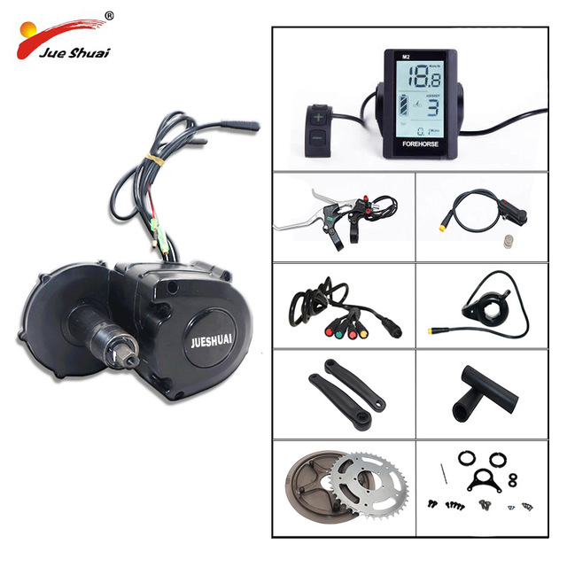 350W E-bike Conversion Kit Mid Drive Motor Electric Bike with 36V 48V SAMAUNG Battery Motor Wheel Electric Bike Conversion Kit