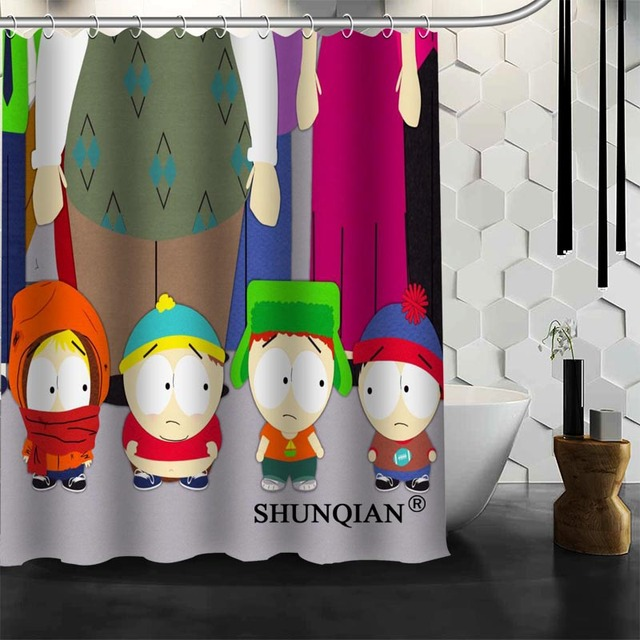 Genial Waterproof Bathroom Curtains Modern South Park Shower Curtain Polyester  Bath Screens Customized Curtain